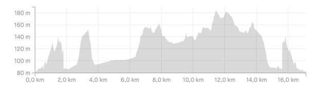 Altimetria Trail del castello